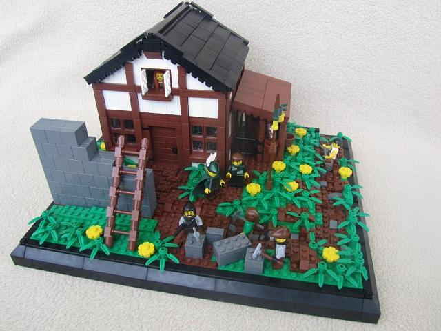 Lego Medieval House brickbuilt lego moc|manek asten's home