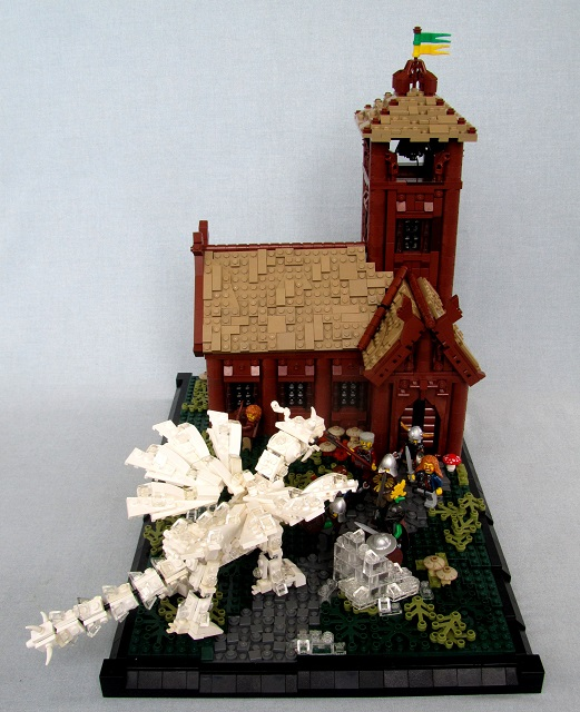 Great Elk Longhouse by brickbuilt.org
