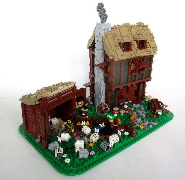 Brickbuilt Lego Moc Daydelon Sheep Farm